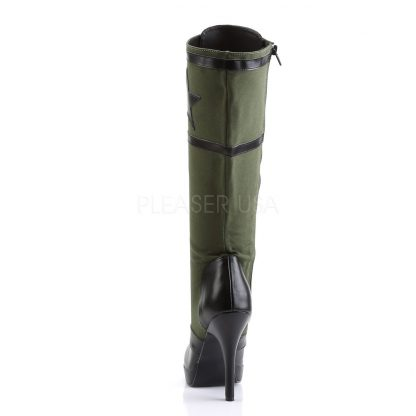 back of Knee High Military Boot with 4-inch Spike Heel Arena-2022