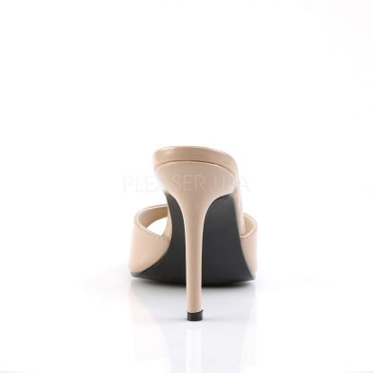 back of nude Peep toe slide slipper with 4-inch heel Classique-01
