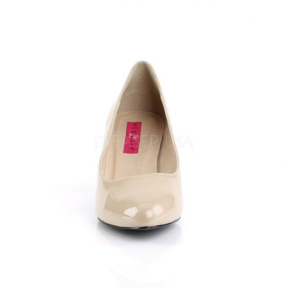 front of classic cream pump with 3-inch block heel Divine-420