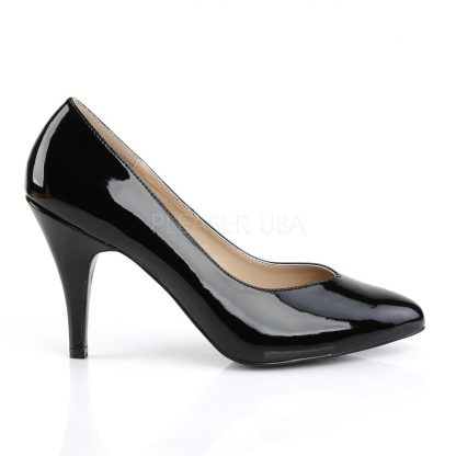 side of black Pointed toe pumps with 4-inch spike heel Dream-420