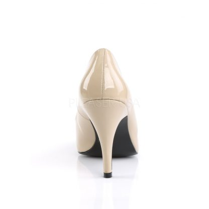 back of cream Pointed toe pumps with 4-inch spike heel Dream-420