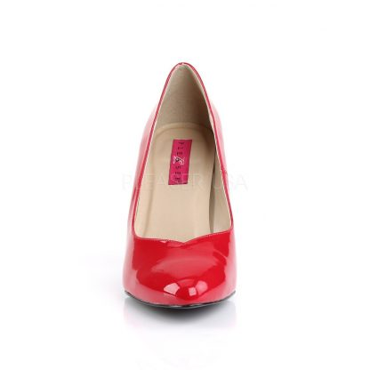 front of red Pointed toe pumps with 4-inch spike heel Dream-420
