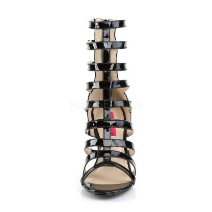 front of black strappy ankle boot with 4-inch spike heel Dream-438