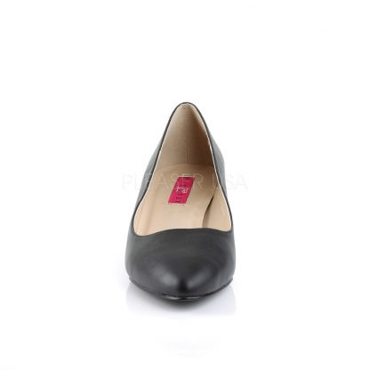 front of black classic pump with 2-inch heel Fab-420