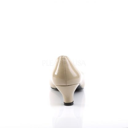 back of cream classic pump with 2-inch heel Fab-420