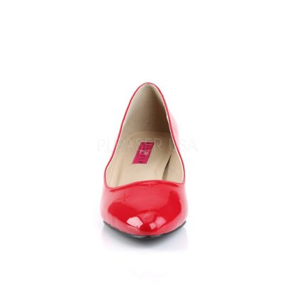 front of red classic pump with 2-inch heel Fab-420