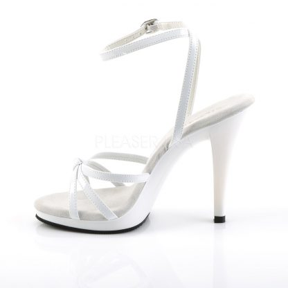 side view of Strappy ankle wrap sandal shoe with 4.5-inch heel Flair-436