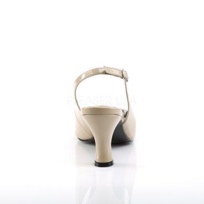 back of cream slingback peep toe pumps with 3-inch heels Jenna-02