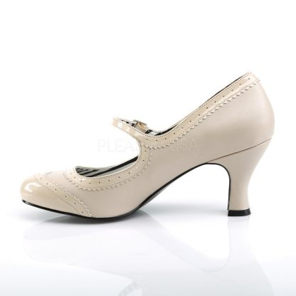 side of cream Spectator Mary Jane pumps with 3-inch heels Jenna-06