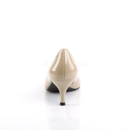 back of cream classic pump shoes with 2.5-inch kitten heels Kitten-01