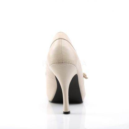 back of cream Mary Jane pumps with 4.5-inch spike heel Pinup-01