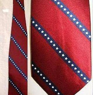 Rebel Confederate flag neck tie with stripes 23455