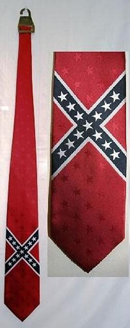 Rebel Confederate flag neck tie 23458