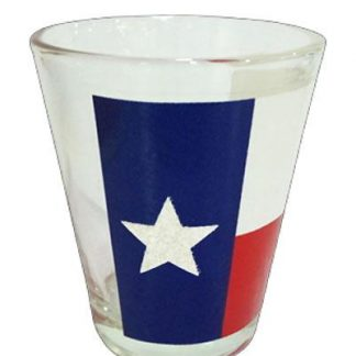 Texas state flag shot glass