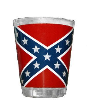Rebel flag shot glass