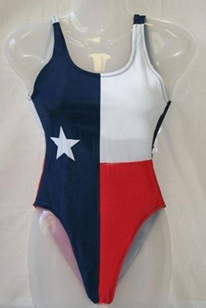 women's Texas Flag one piece swimsuit 818679