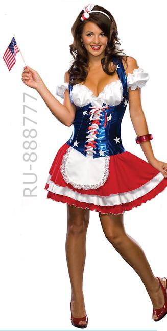 full view American Fourth of July USA patriotic dress 888777