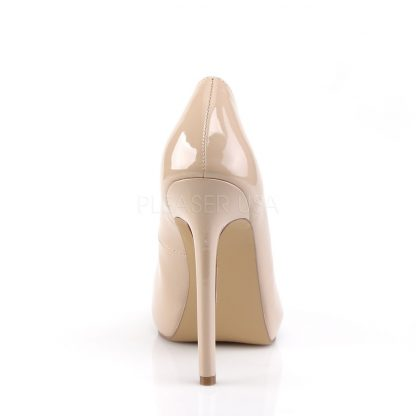 back of nude Platform peep toe pump shoes with 5-inch heels Sexy-42