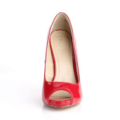 front of red Platform peep toe pump shoes with 5-inch heels Sexy-42