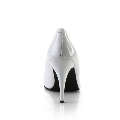 back of white pump shoes with 4-inch spike heels Vanity-420