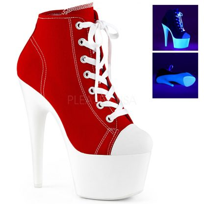 Lace-up front canvas sneaker with 7-inch glow spike heel Adore-700SK-02