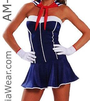 American sailor girl dress 3-piece costume 1358