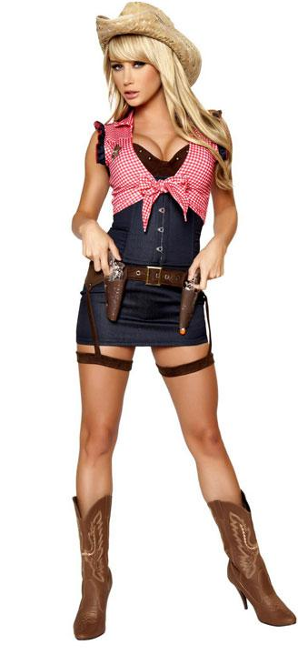 full view of Cowgirl western costume 7-piece set 4360