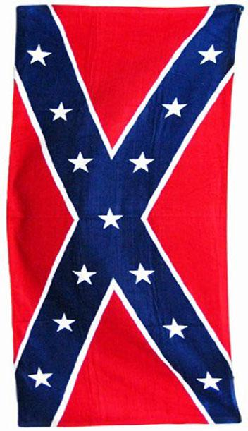 Confederate flag beach towel 65