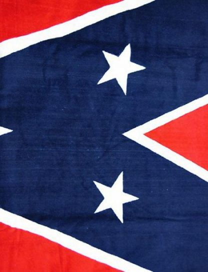 close up of Confederate flag beach towel 65
