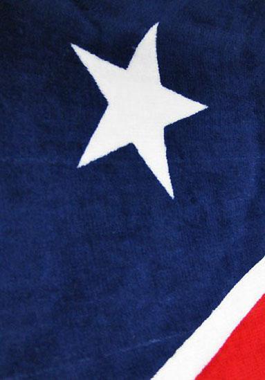 star on Confederate flag beach towel 65