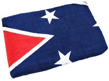 folded Confederate flag beach towel 65