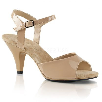 nude Ankle strap sandal woman's shoe with 3-inch heel Belle-309