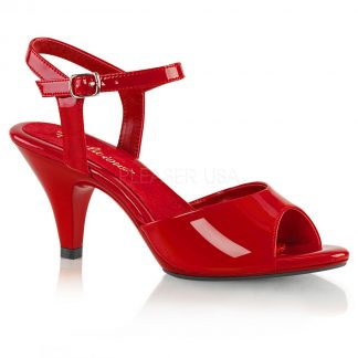 Ankle strap sandal woman's shoe with 3-inch heel Belle-309