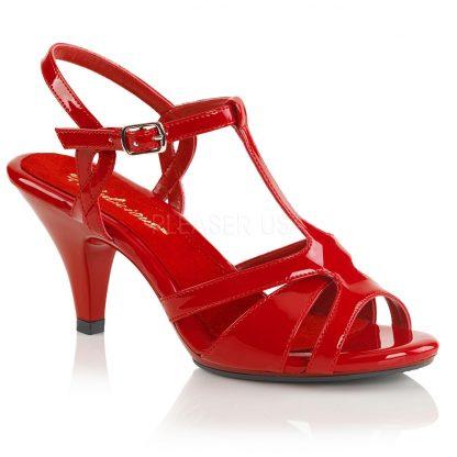 High heel T-strap sandal shoe with 3-inch heel Belle-322