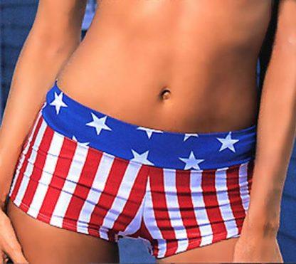 American Flag Hip Hugger Shorts P-HHP