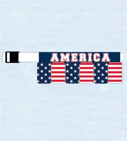 USA American Flag Survival Belt 6-Pack Beer Holster