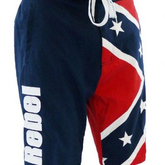 Rebel Confederate flag boardshorts swim trunks