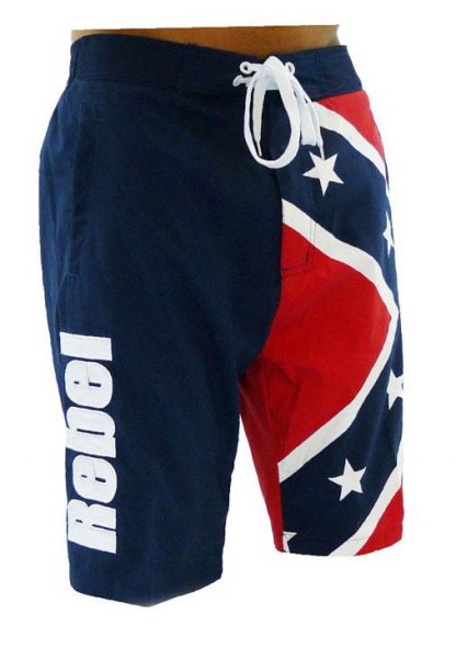Rebel Confederate flag boardshorts swim trunks