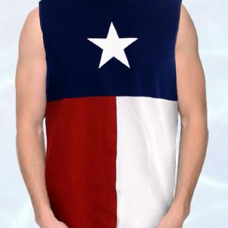NS3TX Texas flag sleeveless shirt