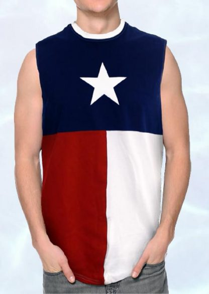 NS3TX Texas flag sleeveless shirt