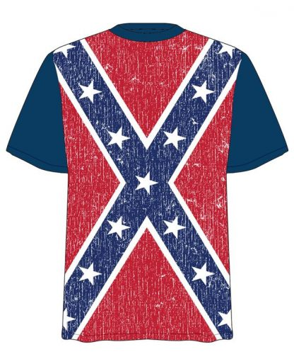 PRBFFD Distressed Confederate flag T-shirt