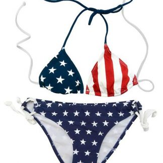 American flag 2-piece bikini set LXUSA