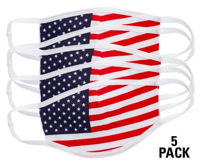 American flag face mask pack of 5