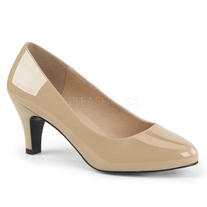 classic cream pump with 3-inch block heel Divine-420