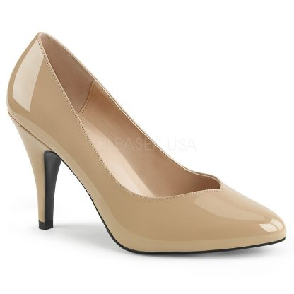 cream Pointed toe pump shoes with 4-inch spike heel Dream-420