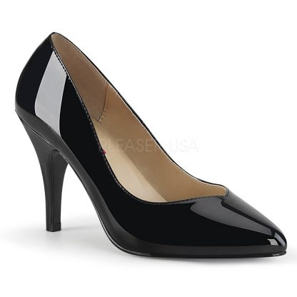 black Pointed toe pump shoes with 4-inch spike heel Dream-420