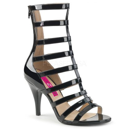 black strappy ankle boot with 4-inch spike heel Dream-438
