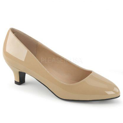 cream classic pump with 2-inch heel Fab-420