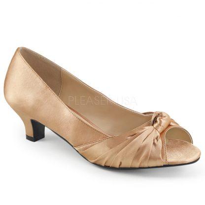 blush peep toe pump with 2-inch heel Fab-422