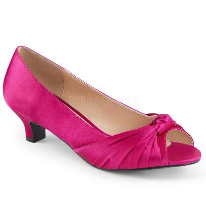 hot pink peep toe pump with 2-inch heel Fab-422